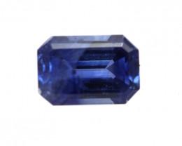 0.75cts Natural Australian Blue Sapphire Emerald Cut