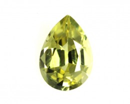 0.41cts Natural Australian Yellow Sapphire Pear Shape