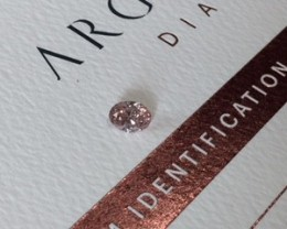 0.33ct PC1 P1 Certified Argyle Pink Diamond