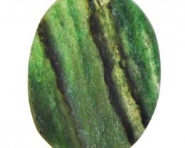 Genuine 50.20 Cts Green Jade Druzy Gemstone