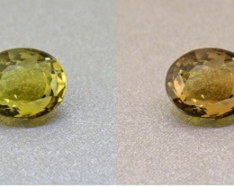 Alexandrite Untreated Ceylon Olive Green 1.81 Ct. Certified (00421)