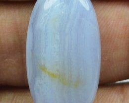 22.20 CT BLUE LACE AGATE  BEAUTIFUL NATURAL CABOCHON x17-9