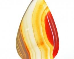 Genuine 43.70 Cts Stripped Onyx Pear Shape Gem