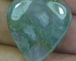 23.75 CT BEAUTIFUL MOSS AGATE (NATURAL+UNTREATED) X25-195