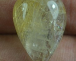 10.15 Ct Rutilated Quartz Natural Untreated Rutile Cabochon X44-157