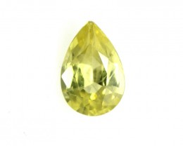 0.34cts Natural Australian Yellow Sapphire Pear Shape
