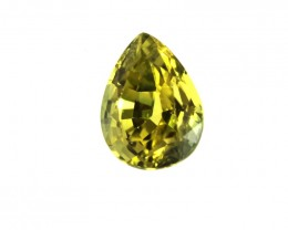 0.42cts Natural Australian Yellow Sapphire Pear Shape