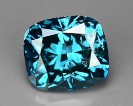 1.00 CT  BLUE DAIMOND CUSHION CUT SPARKLING LUSTER GD3