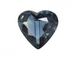 0.67cts Natural Australian Blue Sapphire Heart Shape