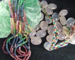 Mixed colors stones DEALS  PRICIOUS& SEMIPRECIOUS stones 380.45 cts