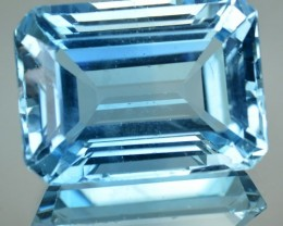 27.09 Cts Natural Blue Topaz Octagon Cut Brazil Gem