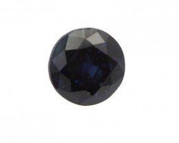 0.64cts Natural Australian Blue Sapphire Round Shape