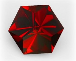 Special Cut Mozambique Garnet 1.80cts Spectacular fire and tone