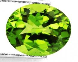 3.90ct Peridot - Vivid Green VVS Natural Gem for setting