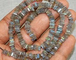 Genuine 75.00 Cts Blue Flash Labradorite Beads Strand