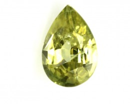 0.57cts Natural Australian Yellow Sapphire Pear Shape