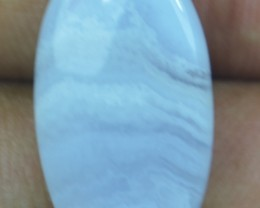 11.70 CT BLUE LACE AGATE  BEAUTIFUL NATURAL CABOCHON x17-134
