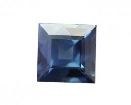 0.75cts Natural Australian Blue Sapphire Square Shape