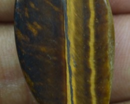 17.60 Ct  TIGERS EYE UNTREATED NATURAL BEAUTIFUL CABOCHON X28-60