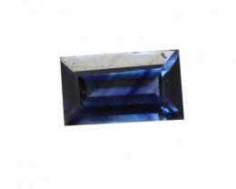 0.59cts Natural Australian Blue Sapphire Baguette Shape