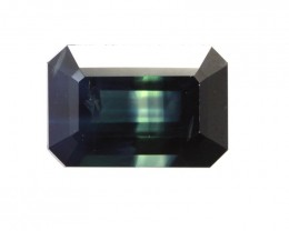 1.15cts Natural Australian Blue Parti Sapphire Emerald Cut