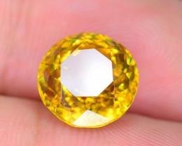 Rare AAA Fire 4.39 ct Malayaite Sphene Bright Yellow Badakhshan Sku-19