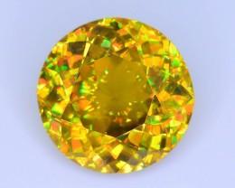 Rare AAA Fire 2.13 ct Malayaite Sphene Bright Yellow Badakhshan Sku-19