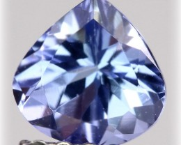 Sparkling Tanzanite Pear Cut Gem - beautiful stone VVS