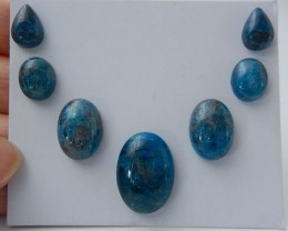 37.25ct Blue Apatite Crystal Cabochons (18072704)