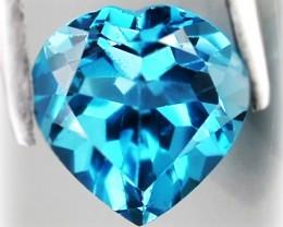 3.10ct LONDON BLUE TOPAZ -  VVS GEM HEART FACET No reserve