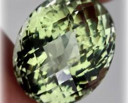 24.10ct Shimmering  Cut Green Amethyst  (Prasiolite) -
