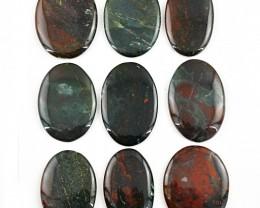 Genuine 480.00  Cts Oval Shape Bloodstone Untreated Gem Lot