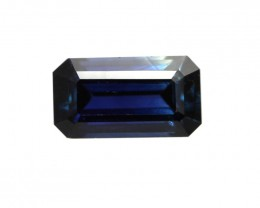 0.83cts Natural Australian Blue Sapphire Emerald Cut