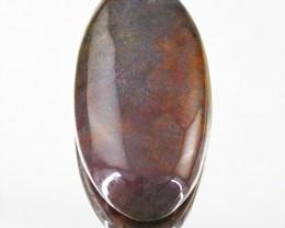 Genuine 55.75 Cts Untreated Bloodstone Oval Shape Gem