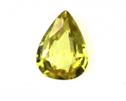 0.38cts Natural Australian Yellow Sapphire Pear Shape