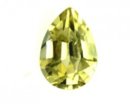 0.60cts Natural Australian Yellow Sapphire Pear Shape