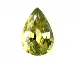 0.52cts Natural Australian Yellow Sapphire Pear Shape