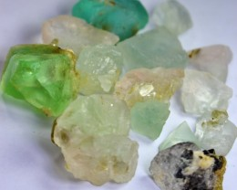 456 CT Natural - Unheated  Fluorite Rough Lot