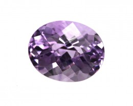 2.78cts Natural Purple Amethyst Oval Checker Board Shape