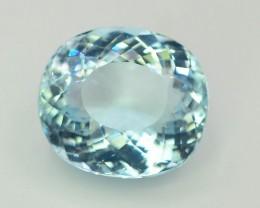 Gil Certified AAA Grade 11.70 ct Attractive Color Aquamarine