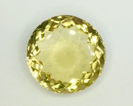 31.00 Crt  Natural Lemon Quarts Faceted Gemstone (LQ 01)