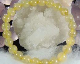 Golden Rutilated Quartz Stone 8 MM Bracelet