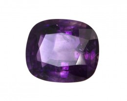 3.06cts Natural Purple Amethyst Cushion Shape