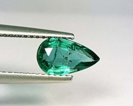 0.98 ct Exclusive Green Gem Pear Cut Natural Emerald