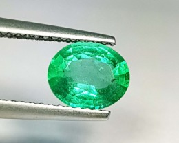 1.15 ct Stunning Luster Green Oval Cut Natural Emerald