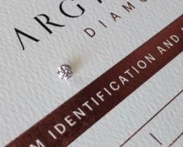 0.16ct PCE Si1 Certified Argyle Pink Diamond