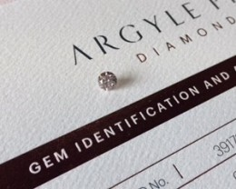 0.40CT PC1 SI2 Certified Argyle Pink Diamond