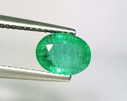 1.22 ct Top Grade Green Oval Cut Natural Emerald