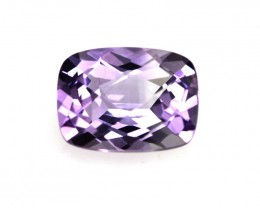 1.28cts Natural Purple Amethyst Cushion Checker Board Shape