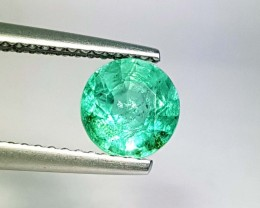 1.10 ct Top Quality Green Round Cut Natural Emerald